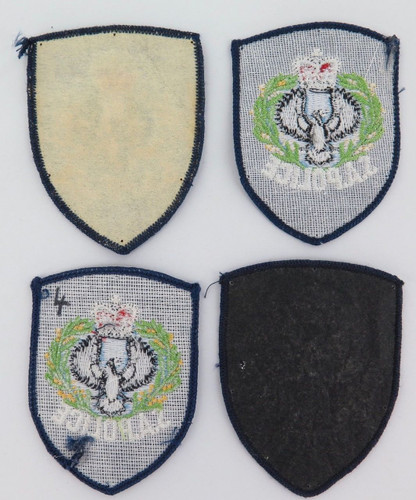4 S.A. Police cloth patches.  All have obsolete design / logo