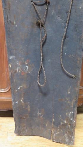 Huge Vintage 100% genuine PNG tribal wooden war shield, museum quality #5