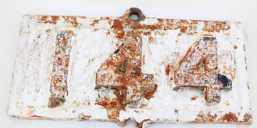 """Exceedingly rare QLD Rail early 1900s """"144 miles to?""""  cast iron mileage sign"""