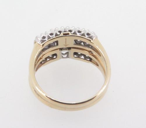 Vintage 14k Gold 0.57ct G VS-SI Diamond Illusion Set Two Ring Set Val $4180