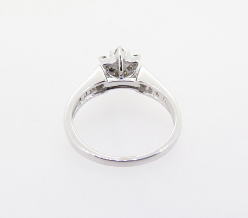 0.50ct Diamond Cluster 10k White Gold Ring Size N Val $1830