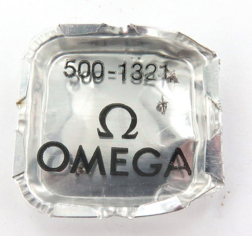 GENUINE / VINTAGE OMEGA CAL. 500 2 x #1321 BALANCE STAFFS, NOS IN PACKET.