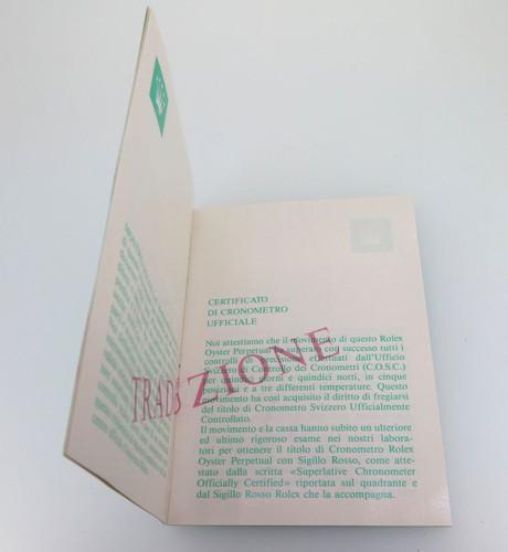 ROLEX TRANSLATION BOOKLET IN NICE CONDITION. 565.00.6V