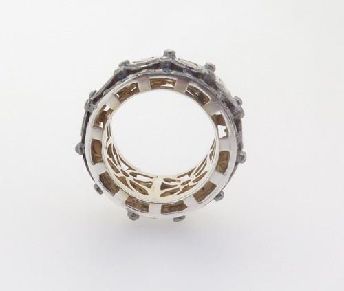 Handmade 2.50ct Rose Cut Full Circle Diamond Eternity Ring Size N Val $8810