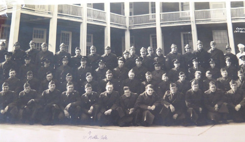 "WW2 HUGE PANORAMIC PHOTO US ARMY ""G COMPANY 54TH QUARTERMASTER REGIMENT"""