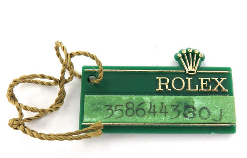 RARE 1972 OBSOLETE / OLD STYLE ROLEX OYSTER 30J GREEN TAG.