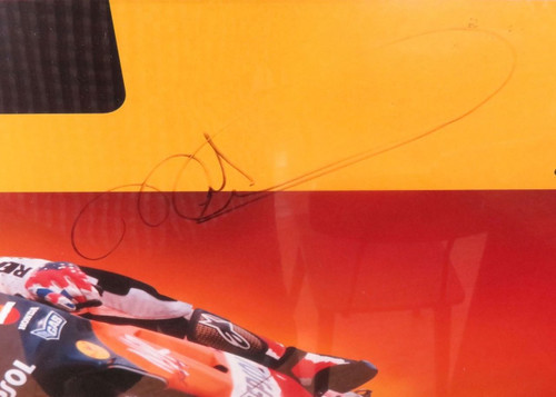 SUPERB LARGE FRAMED MICK DOOHAN REPSOL-HONDA SIGNED DISPLAY. READY TO HANG !!!!