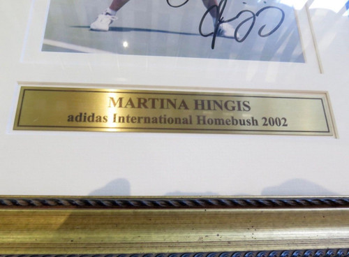 QUALITY 2002 LARGE MARTINA HINGIS FRAMED DISPLAY. ADIDAS INTERNATIONAL HOMEBUSH.