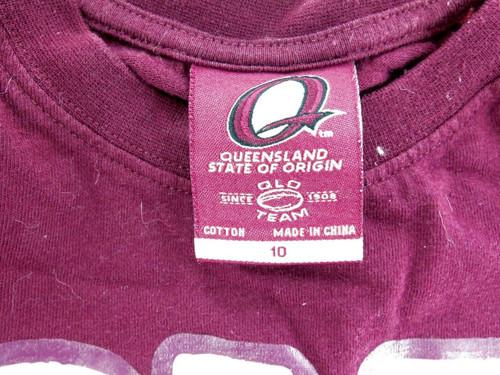 "QLD STATE OF ORIGIN ""CANE TOAD"" SIGNED SHIRT. 6 ORIGINAL HANDSIGNED SIGNATURES."