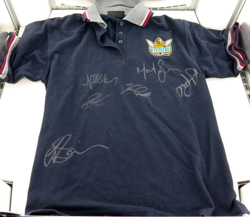 GOLD COAST TITANS SIGNED SUPPORTERS SHIRT.  6 SIGNATURES. PRINCE, ROGERS ETC