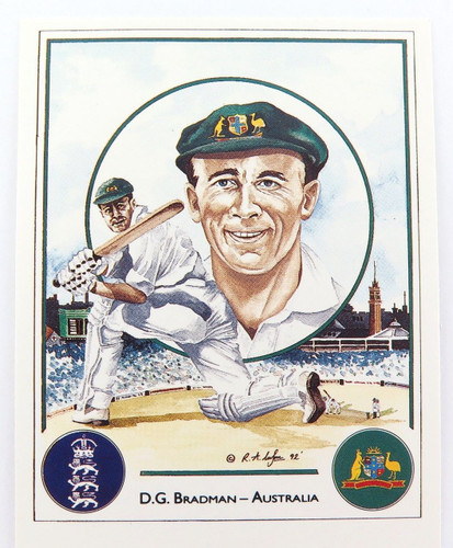 "c1992 DON BRADMAN TRADING CARD. ""ASHES WINNING CAPTAINS"""