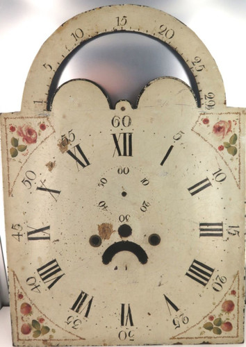 RARE LATE 1700'S / EARLY 1800'S ROLLING MOON GRANDFATHER / LONGCASE ENAMEL DIAL.
