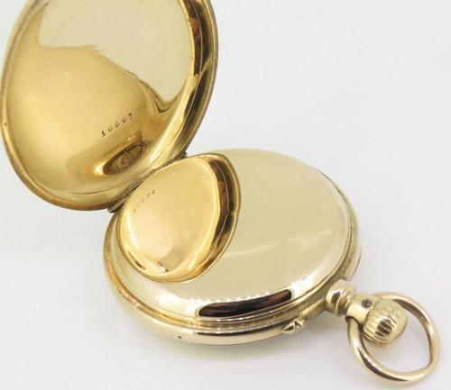 C.1880s A Lange Sohne Glashutte pocket 18K Gold 50mm Open Faced Pocket Watch