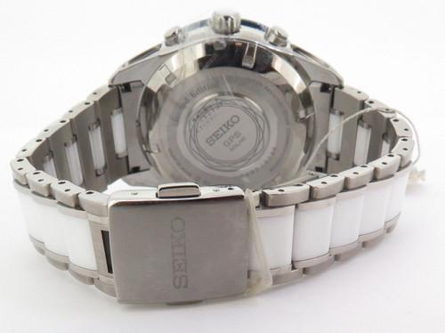 Seiko Astron GPS Solar Chronograph Titanium Ceramic Ltd Ed Watch SAS029J1