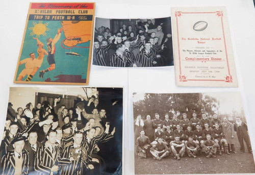 SUPER RARE 1938 ST KILDA F.C MEMORABILIA & PHOTO'S. TRIP TO PERTH & GOLDFIELDS.