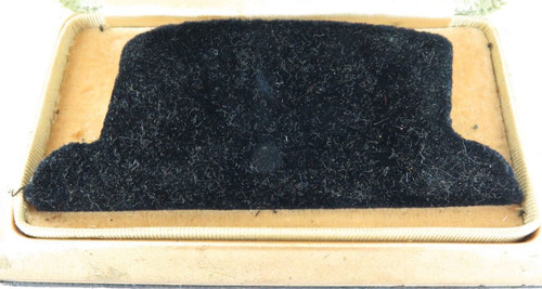 c1930s / 1940s SUPER RARE GOTHIC JAR-PROOF MENS WATCH DISPLAY BOX.