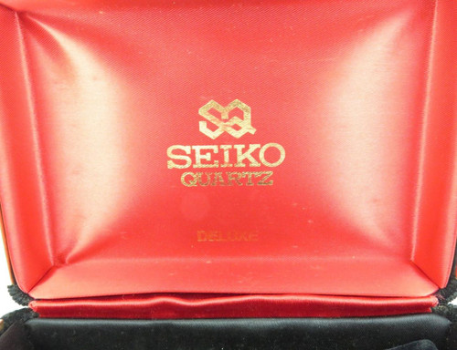 c1960s / 1970s SEIKO QUARTZ DELUXE LARGISH FELT LINED DISPLAY BOX.