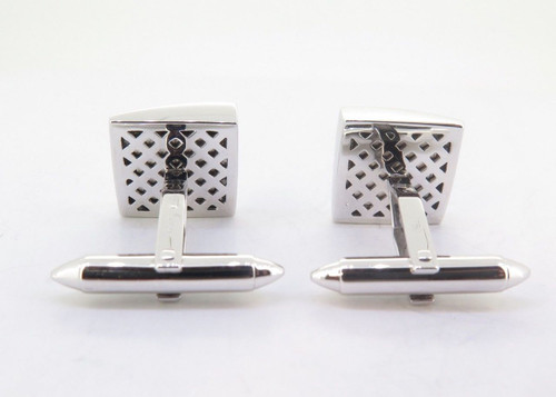 A Fine Pair Of Paul Longmire 18k Gold Mother of Pearl Gentleman's Cufflinks