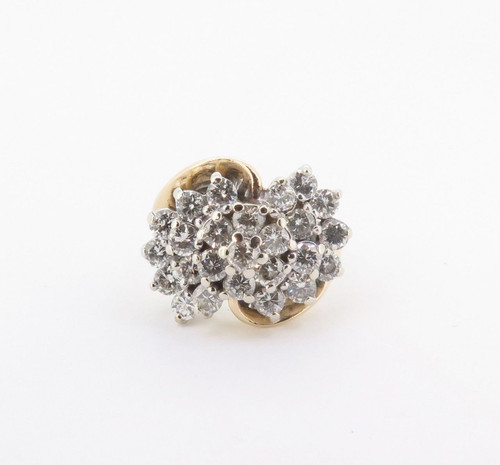 2.00cttw Diamond Ladies 14k Gold Cluster Ring Size M Val $5990