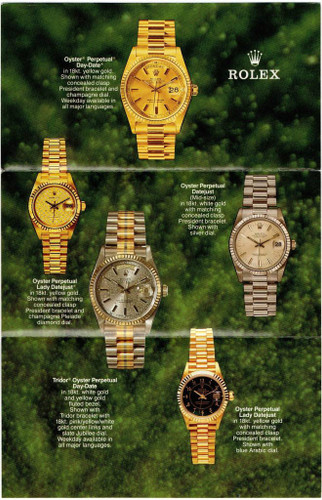 1987 ROLEX OYSTER PERPETUAL DAY-DATE/ DATEJUST/ LADIES + TRIDOR BROCHURE