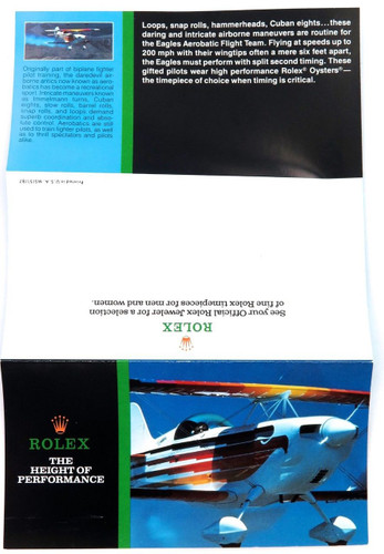 "1987 SCARCE ROLEX BROCHURE ""THE HEIGHT OF PERFORMANCE"". EXPLORER, DATEJUST ETC."
