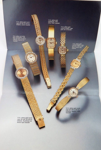 1990 SCARCE ROLEX BROCHURE LADIES 14kt & 18kt GOLD, DIAMOND WATCHES & BRACELETS.