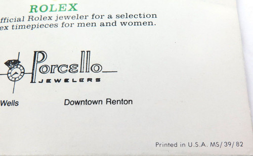 1982 RARE ROLEX BROCHURE. 18kt GOLD WATCHES & BRACELETS. DATEJUST, DAY-DATE