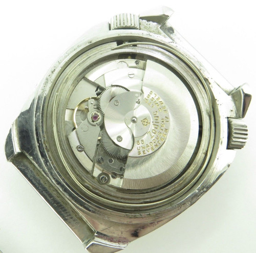 "1970'S ZODIAC SEA WOLF SST High Beat 3600 ""COFFIN CASE"" DIVER WRISTWATCH"