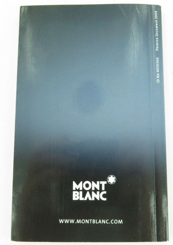 2009 MONTBLANC SMALL COMPACT PRODUCTS BOOKLET.