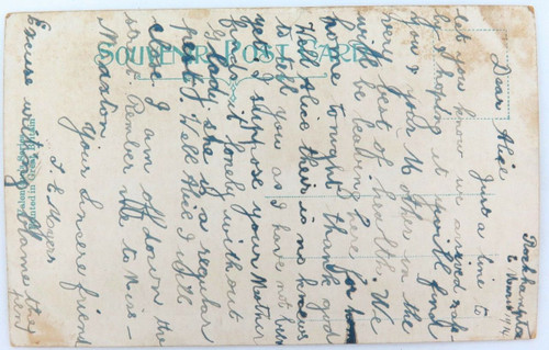 "1914 SCARCE COMICAL ""JUST ARRIVED AT ROCKHAMPTON"" POSTCARD."