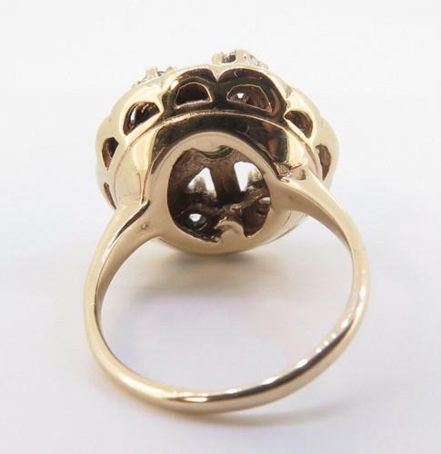 A Natural Emerald & 0.48ct H Si Brilliant Cut Diamond Ring Size L Val $3440