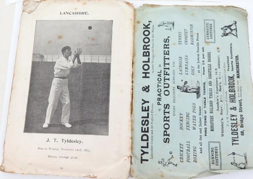 """1901 SUPER RARE PRE TOUR GUIDE. """"CRICKET SKETCHES"""" ENGLAND v SOUTH AFRICA."""