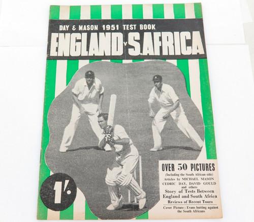 "1951 PRE TOUR GUIDE CRICKET ENGLAND v SOUTH AFRICA. ""DAY & MASON 1951 TEST BOOK"""