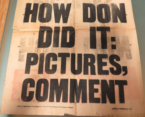 "CRICKET. EXCEEDINGLY RARE. 1946 DON BRADMAN NEWSPAPER HOARDING ""HOW DON DID IT""."