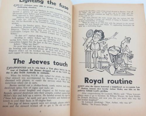 "1970s ""CRICKET'S FUN"" BY RAY ROBINSON. A HUMOROUS LOOK AT AUSTRALIAN CRICKET."