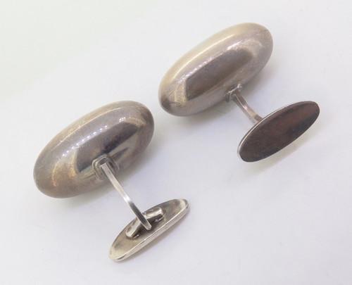 Vintage Georg Jensen 121 Modernist Sterling Silver Gentleman's Cufflinks