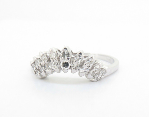 0.50ct Single Cut Diamond Contoured 9K Gold Ring Size R Val $2145 #1