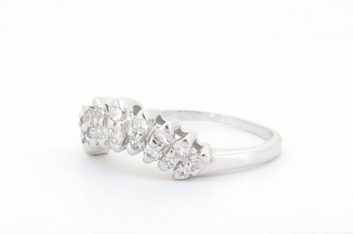 0.50ct Single Cut Diamond Contoured 9K Gold Ring Size R Val $2155 #2