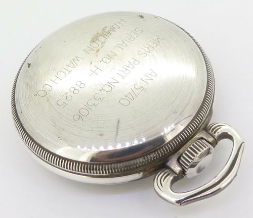WWII 1942 Hamilton GCT 22j 4992B Military Army Navigation Pocket .800 Watch