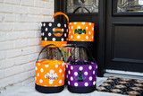 Polka Dot Halloween Bucket