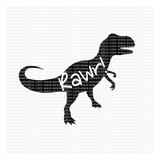 Dinosaur RAWR! SVG