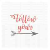 Follow your arrow SVG