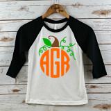 Pumpkin Monogram Youth Raglan