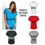 Witch Please Rolled Sleeve Dolman