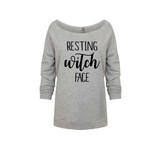 Resting Witch Face French Terry Raglan