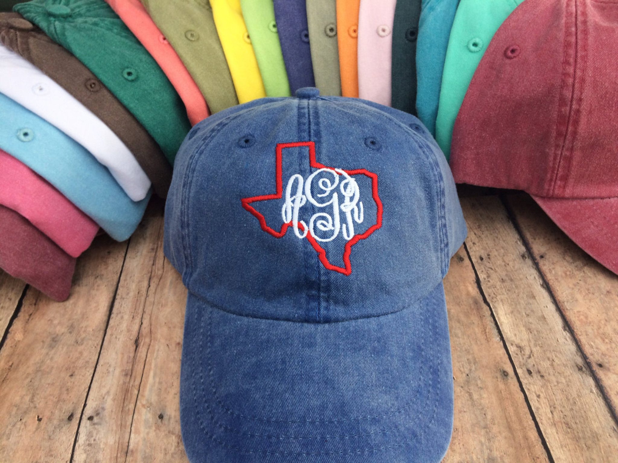 b42b3662 Texas Monogrammed Baseball Hat - Sew What Fun
