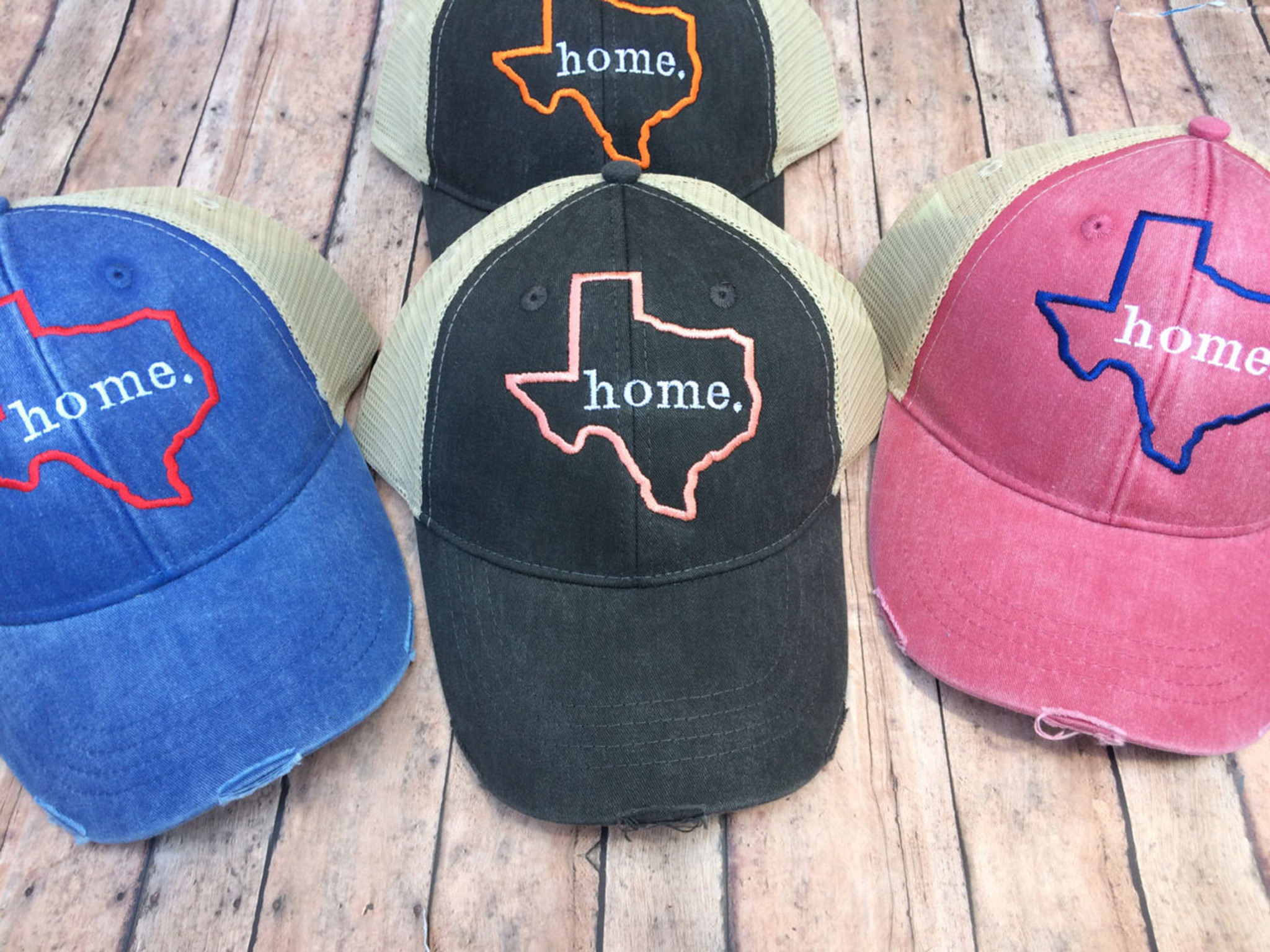 2c8e103542893 Texas Home distressed Hat - Sew What Fun