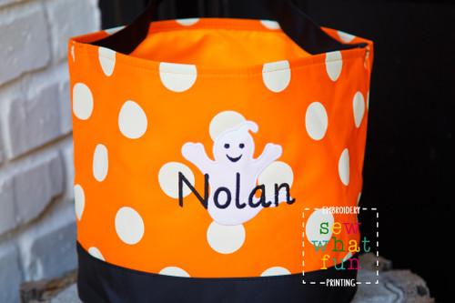Polka Dot Halloween Bucket