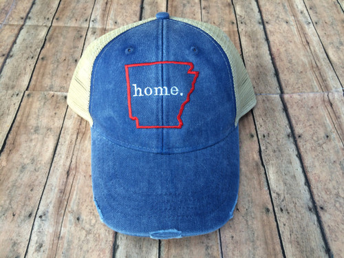 Arkansas Home distressed Hat