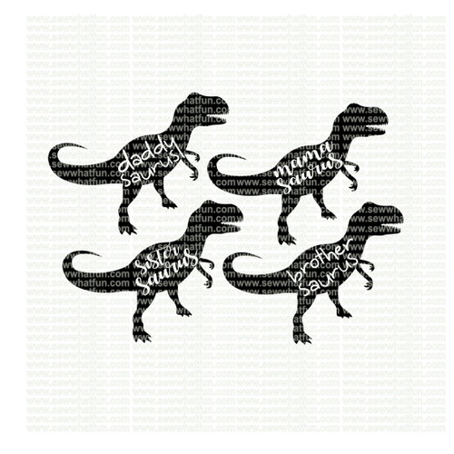 Family Dinosaur SVG